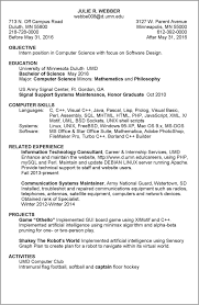 1 Or 2 Page Resume 0bjectives Of Internship Free Resume Templates
