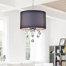 astounding crystal drum chandelier and fabric drum shade chandelier