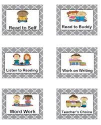 Daily 5 Pocket Chart Cards Daily 5 Pocket Chart Rotation Cards