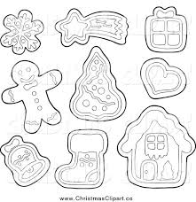 christmas cookie clip art black and white. Simple White Intended Christmas Cookie Clip Art Black And White E