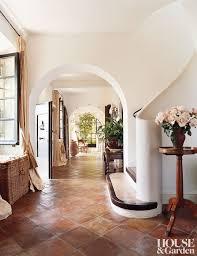terracotta tile in an entryway