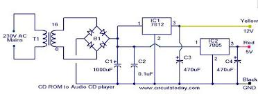 circuit to convert cd rom drive to audio cd player circuit diagram parts list cd rom audio cd converter jpg