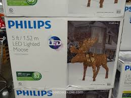 Outdoor Lighted Moose Philips 60 Inch Grapevine Moose