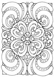 Small Picture Abstract and Art Coloring Pages Medium into Hard Level