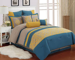 bedspread yellow and blue bedding queen designs bedspreads modern retreat bedroom carlton taupe comforter set