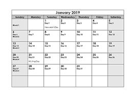 2019 Julian Calendar Download Free Julian Date Calendar