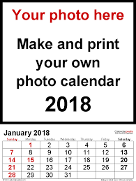 easy calendars photo calendar 2018 free printable excel templates