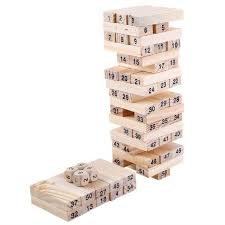 Games With Wooden Blocks New Emob 322 Wooden Building Blocks With 32 Wooden Dice Jenga Learning
