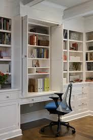 traditional hidden home office desk. New York Transformation - Traditional Home Office By Crisp Architects. Like The Desk Slide Back Shelf Doors. Hidden O