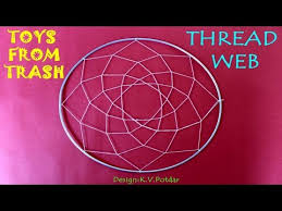 How To Make A Spider Web Dream Catcher Thread Web Hindi Dream Catcher YouTube 62