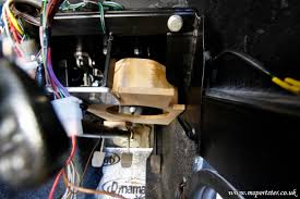 fuse box speakers patrick and richard s marlin sportster build managed to some room to fit a speaker above the steering column