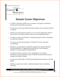 Career Objective For Resumes Resume Template Example Of Career Objectives For Resume Free 9