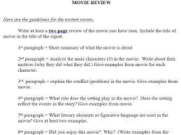 Movie Book Review Multi Paragraph Essay Format