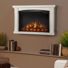 slim wall mounted electric fireplace