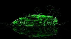 Green Lamborghini Veneno Neon Flame ...