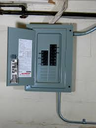 visual guide to an electrical service panel or load center main breaker panel at Bar Breaker Fuse Box