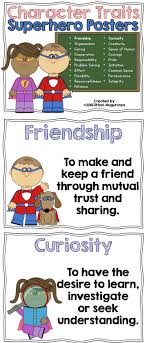 Characteristics Of A Superhero Character Education Posters And Writing Prompts Character