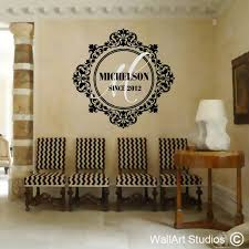 monograms family crests wall decals