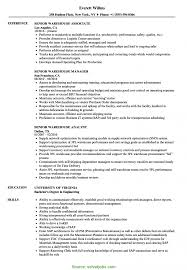 Typical Senior Warehouse Manager Job Description Senior Warehouse