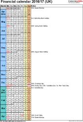Financial Calendars 2016/17 (Uk) In Pdf Format