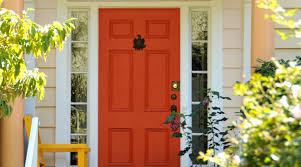 Orange front door Colors Oranges Sherwinwilliams Exterior Inspiration Front Door Paint Colors Sherwinwilliams