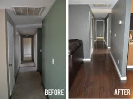 painted wood floors before and after hardwoods design how to paint