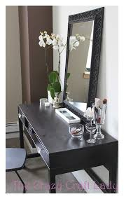 hair and makeup vanity table. ikea desk vanity - how to turn an inexpensive into a hair and makeup table