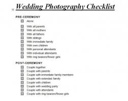 Wedding Photography Checklist Template Wedding Photography Checklist Wedding Photography
