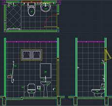 bathroom layout cad block and typical