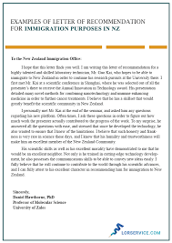 how do you write a letter of recommendation character letter of recommendation for immigration in nz