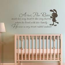 Children Wall Quote   Peter Rabbit Baby Nursery Bedroom Kids Room Wall  Decal Art Sticker 54