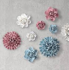 creative ceramic flower wall stickers murals porcelin ornaments on 3d ceramic flower wall art with ceramic wall flower decor home decorating ideas