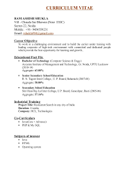 Resume Search Free Adorable Ram Ashish Shukla Resume Formate Pdf