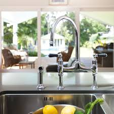Perrin And Rowe Kitchen Faucet Ionian Deck Mounted Taps With Lever Handles And Rinse Perrin And