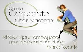 chair massage. business chair massage