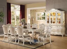 von furniture chantelle formal dining room set in white Formal
