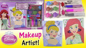 disney princess makeup artist sketch kit rapunzel cinderella makeover with eyeshadow lip gloss