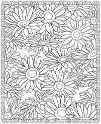 Small Picture Sunflowers Adult Coloring Page Adult colouring Pinterest