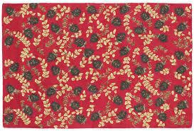 ruby cones 4 x 6 hand hooked wool rug