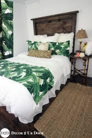 palm leaf cheetah print custom apartment bedding collection