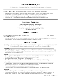New Graduate Nursing Resume Resume Templates