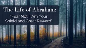 Abraham raising his fist to god