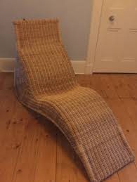 ikea wicker chaise lounge seat chair good condition
