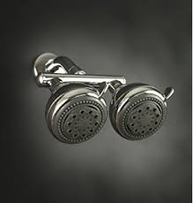 dual shower head bar. neptune dual shower heads-chrome head bar u