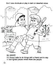 Water Safety Coloring Pages Stranger Danger Coloring Pages Stranger