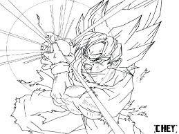 Coloriage Dragon Ball Z Sangoku Ultra Instinct Dragon Ball Gt Movie