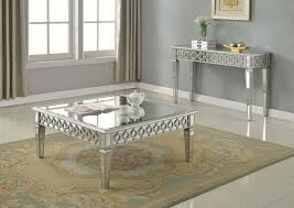 most amazing silver mirrored coffee table