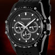 rousseau watches 34 99 for rousseau men s watch baer black silver w black bezel 62620530 680 list price