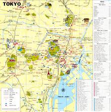 tourist map of tokyo tokyo travel map tokyo tourist map