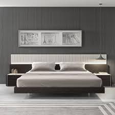Amazon.com: Ju0026M Furniture Porto Light Grey Lacquer With Wenge Veneer Queen  Size Bedroom Set: Home U0026 Kitchen